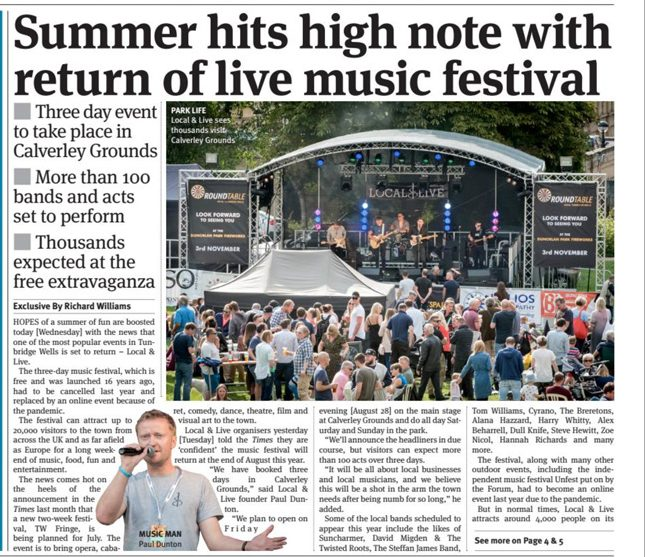 Local & Live Times of Tunbridge Wells